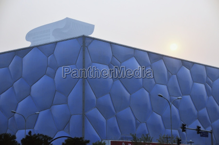 building with a unique bubble facade