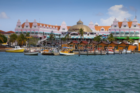 tropical cruise port caribbean marina oranjestad