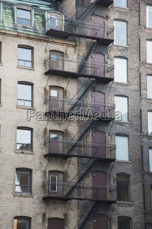 balconies and stairway on the side