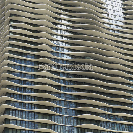 curved ledges on the facade of