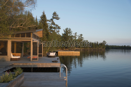 wooden docks on the edge of