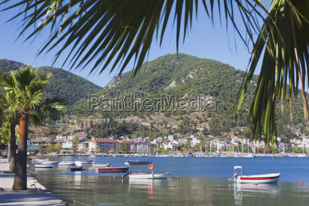 view across the bay fethiye mugla