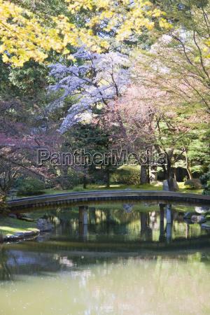 bridge in nitobe memorial garden a