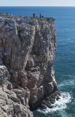 portugal algarve distant view sagres people