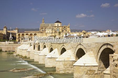 roman bridge over the guadalquivir river
