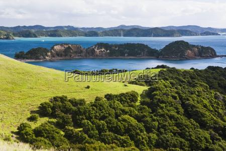 coastline of urupukapuka island the largest