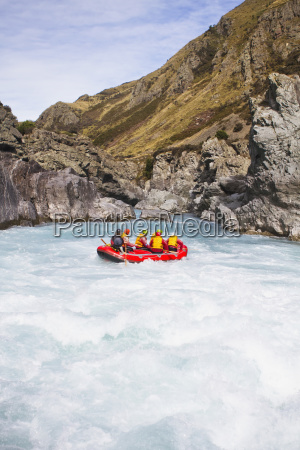 rafting down the rangitata gorge and