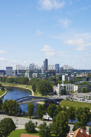 view, across, neris, river, to, corporate - 25462212