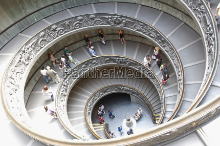 the double helix spiral staircase in