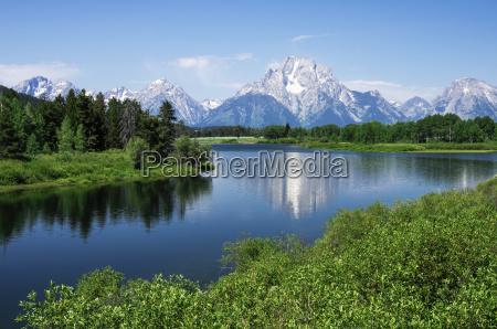 view of teton mountain range and
