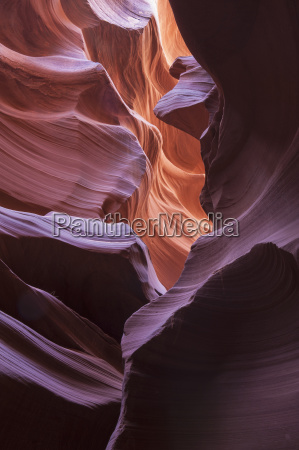 slot canyon formation near page arizona