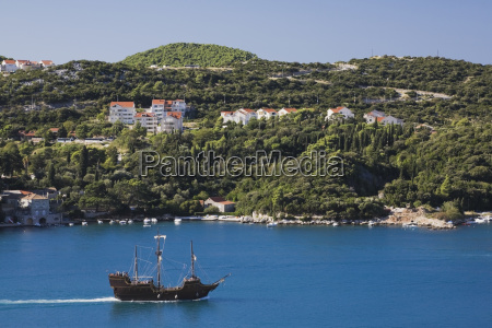 spanish galleon style tour boat in