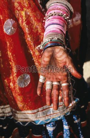 indien rajasthan close up von villager