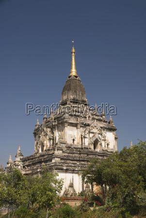 blau architektonisch detail tempel kultur baum