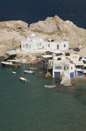 greece cyclades island of milos village