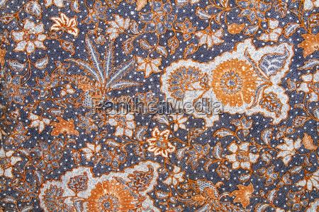 batik fabric on display at the