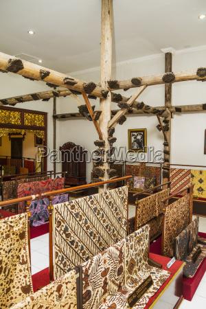 batik fabrics on display at the