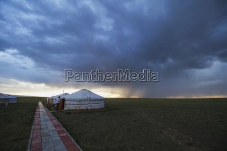 mongolian gers yurts tourist accommodation at