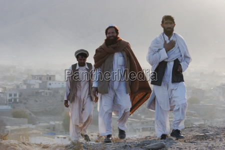 afghan men on the tapa maranjan