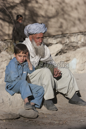 old afghan man and boy in