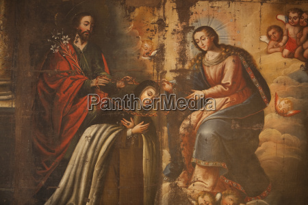 spanish colonial painting of the virgin