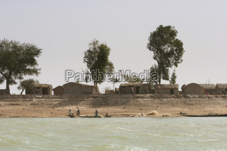 village along the shores of the