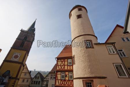 round tower on the kirchplatz wertheim