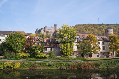 wertheim castle and old court reflected