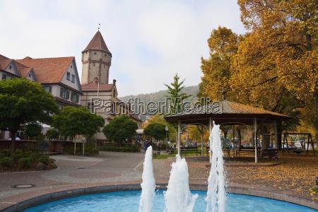 fountain on mainplatz square wertheim am