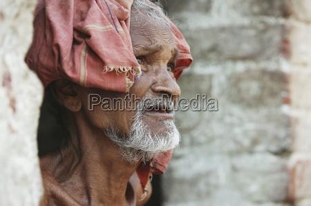 portrait of a senior man kharigoda