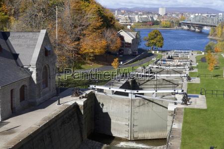 ottawa locks at the rideau canal