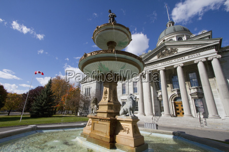 fountain in front of the frontenac
