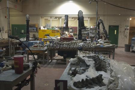 palaeontologische vorbereitungslabor im royal tyrell museum