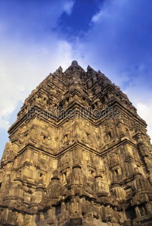 indonesia java prambanan hindu temple upward