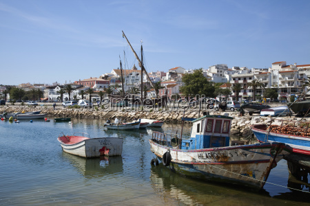 boats in the harbour lagos algarve