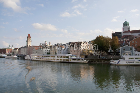 passau as seen from the danube