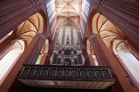 orgel in st nikolai church wismar