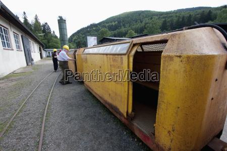 miners train in rammelsberg mine goslar