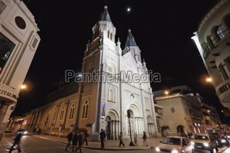san alfonso church at night cuenca