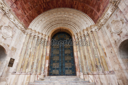 neo romanesque entrance of el sagrario