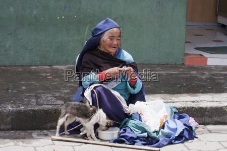 old otavalena woman otavalo imbabura ecuador