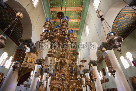 chandeliers inside the great basilica of