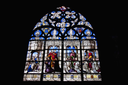 medieval stained glass window from the