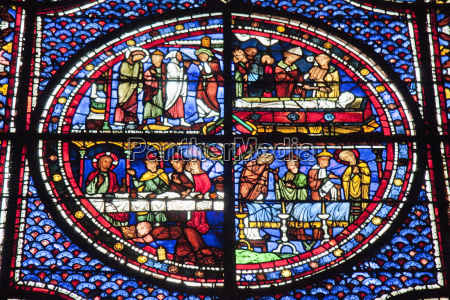 panels depicting the funeral of lazarus