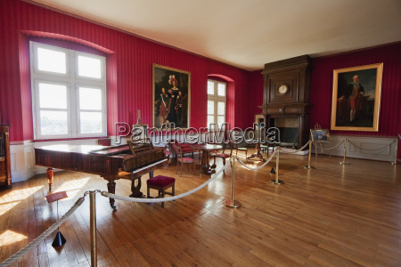 music room of the chateau damboise