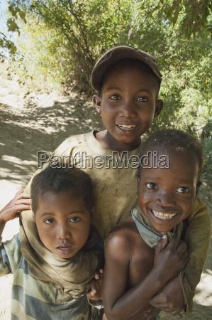 boys in ranohira fianarantsoa province madagascar