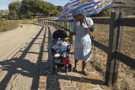 baby in a stroller near ranohira