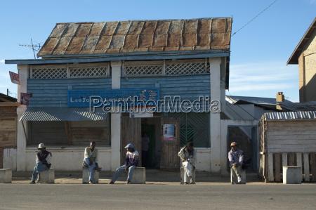street scene in ranohira fianarantsoa province