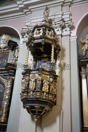 pulpit in the basilica of our