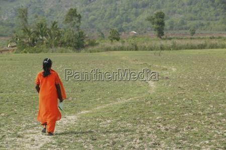 heading home from school kharigoda village